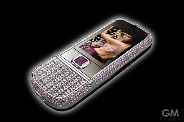 gigamen_Nokia_8800_Arte_with_pink_diamonds