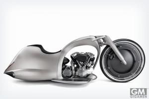 近未来を予感させるバイク Akrapovic Full Moon Concept